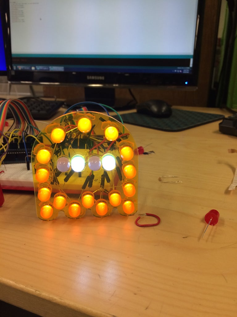 Led Pacman Ghosts 8 Steps With Pictures Instructables