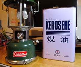2015.12.28-Convert a Coleman 220J Lantern to Kerosene (汽化燈改吃煤油)