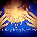 Key Ring Statement Necklace