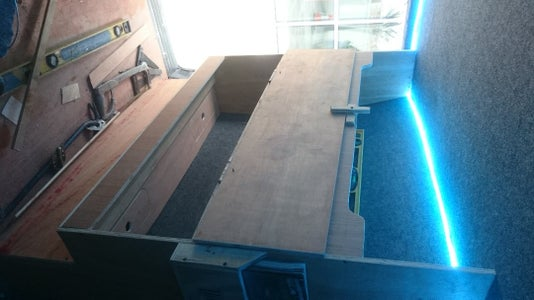 Building Carcass for Storage and Bed