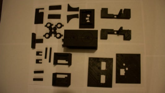 Gather 3d Printed Parts, Tools, and Electronic Components.