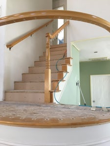 """Adding the 1/2"""" Chipboard / OSB to All the Treads and Landings"""