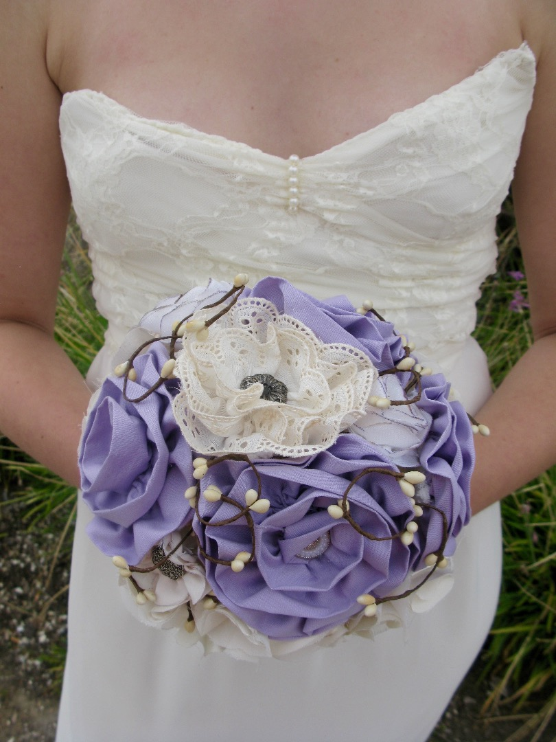 Picture of Fabric Wedding/Bridal Flower Bouquet