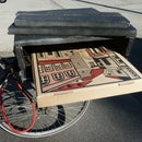 Bicycle Pizza Carrier built from scrap materials