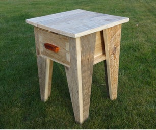 Pallet Wood Nightstand (with Minimal Tools)