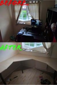 $60 Custom Corner Office Desk (USB & Prototyping Space)