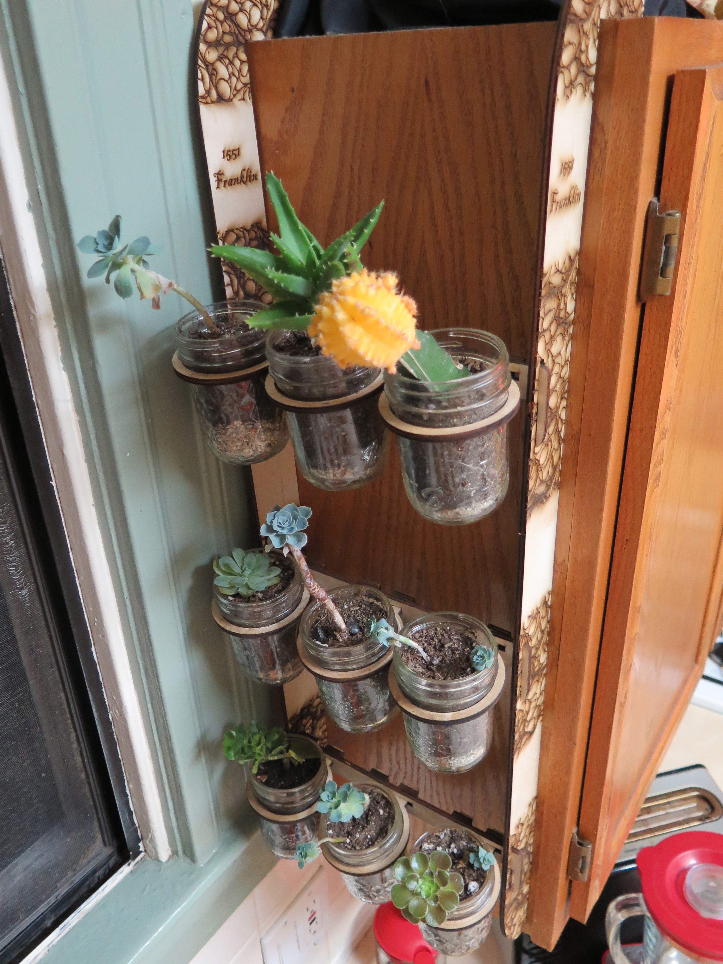 Picture of Plant Mason Jars and Place in Racks