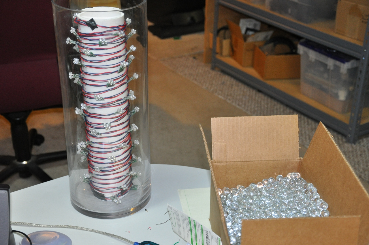 Picture of Building Up the Vase LED Demo