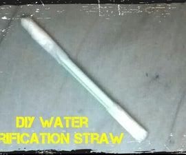 DIY water purification straw
