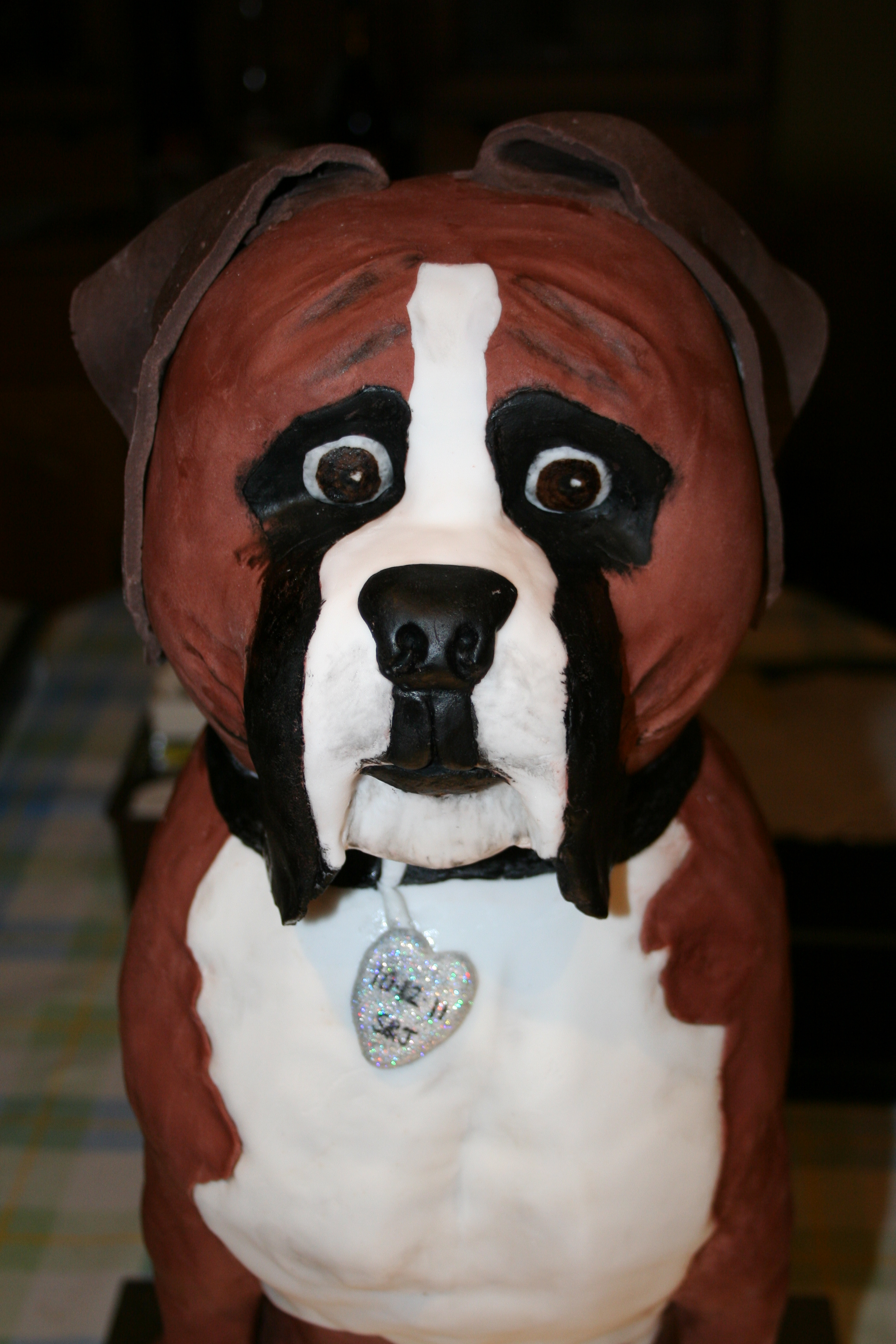 Picture of Making a Boxer Dog Wedding Cake