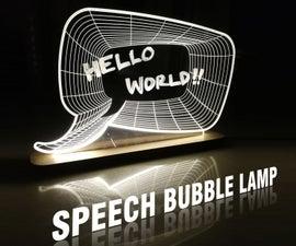 Speech Bubble Lamp & Scribbleboard With Full Plans