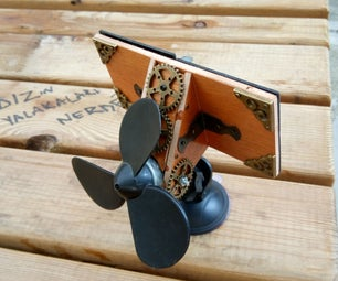 Steampunk Solar Powered Air Conditioner and Identity Card Holder