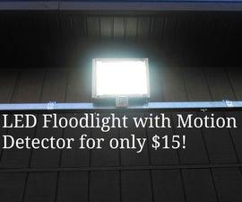 LED Flood Light With Motion Detector