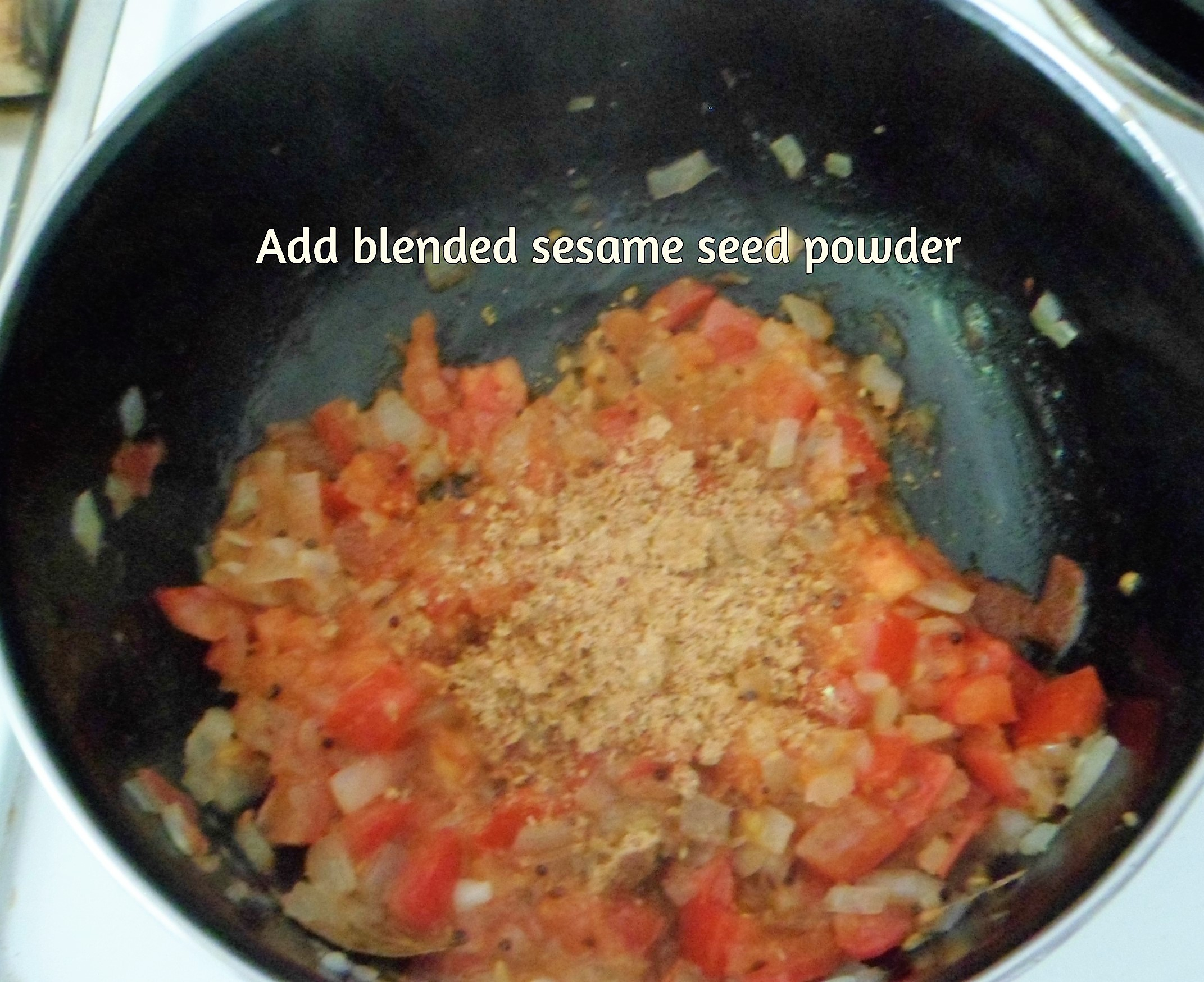 Picture of Add the Blended Sesame Seed Powder and Spiced Yoghurt and Mix
