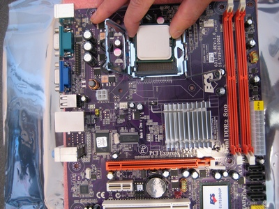 Picture of Beginning the Install: the Motherboard and Processor