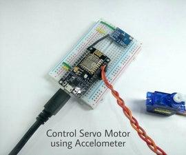 Control Servo Motor Using Accelerometer