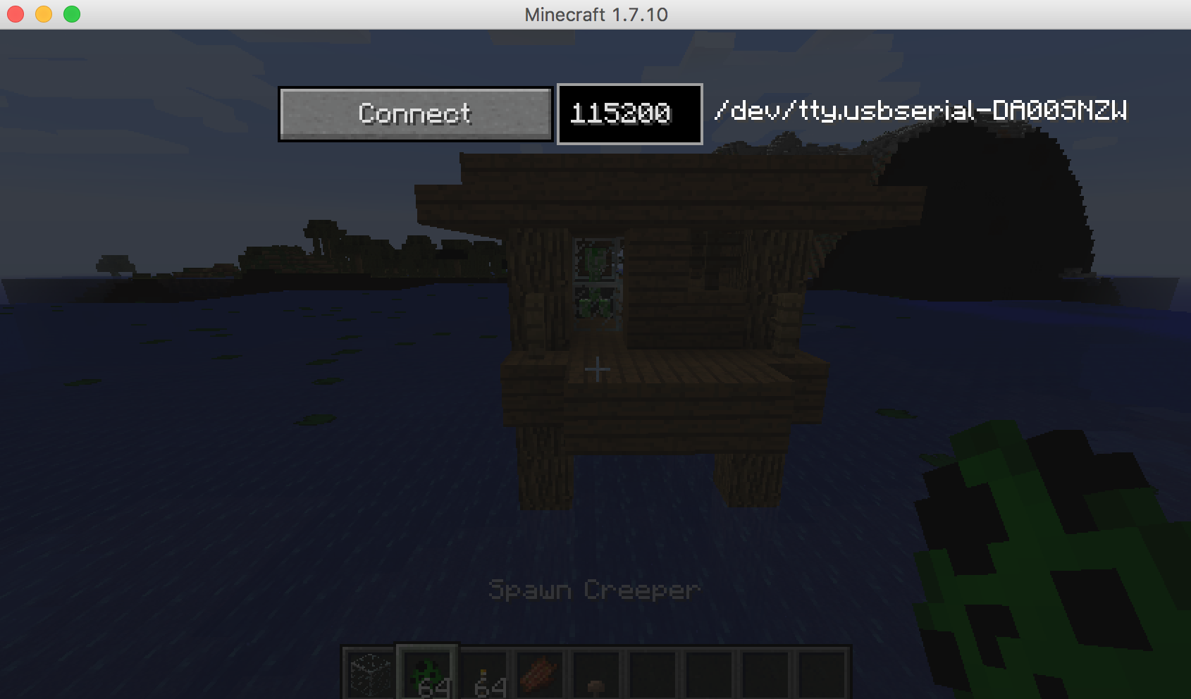 Picture of Using the SerialCraft Mod