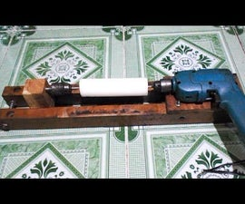 DIY Homemade Mini Wood Lathe with Drill Hand Tools