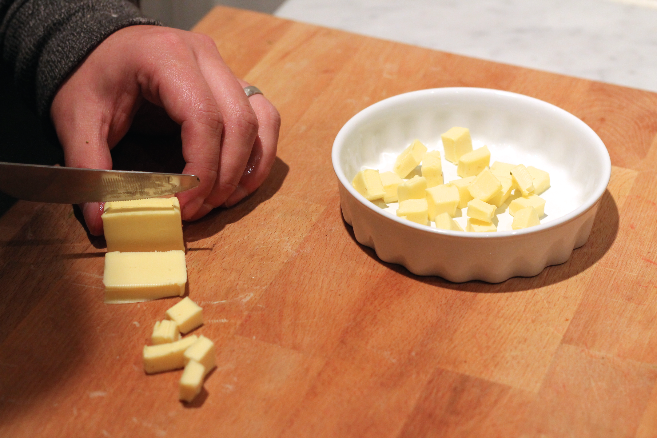 Picture of Preparing the Butter and Strawberries
