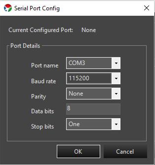 Picture of Configuración Puerto Serial (Configuring Serial Port)