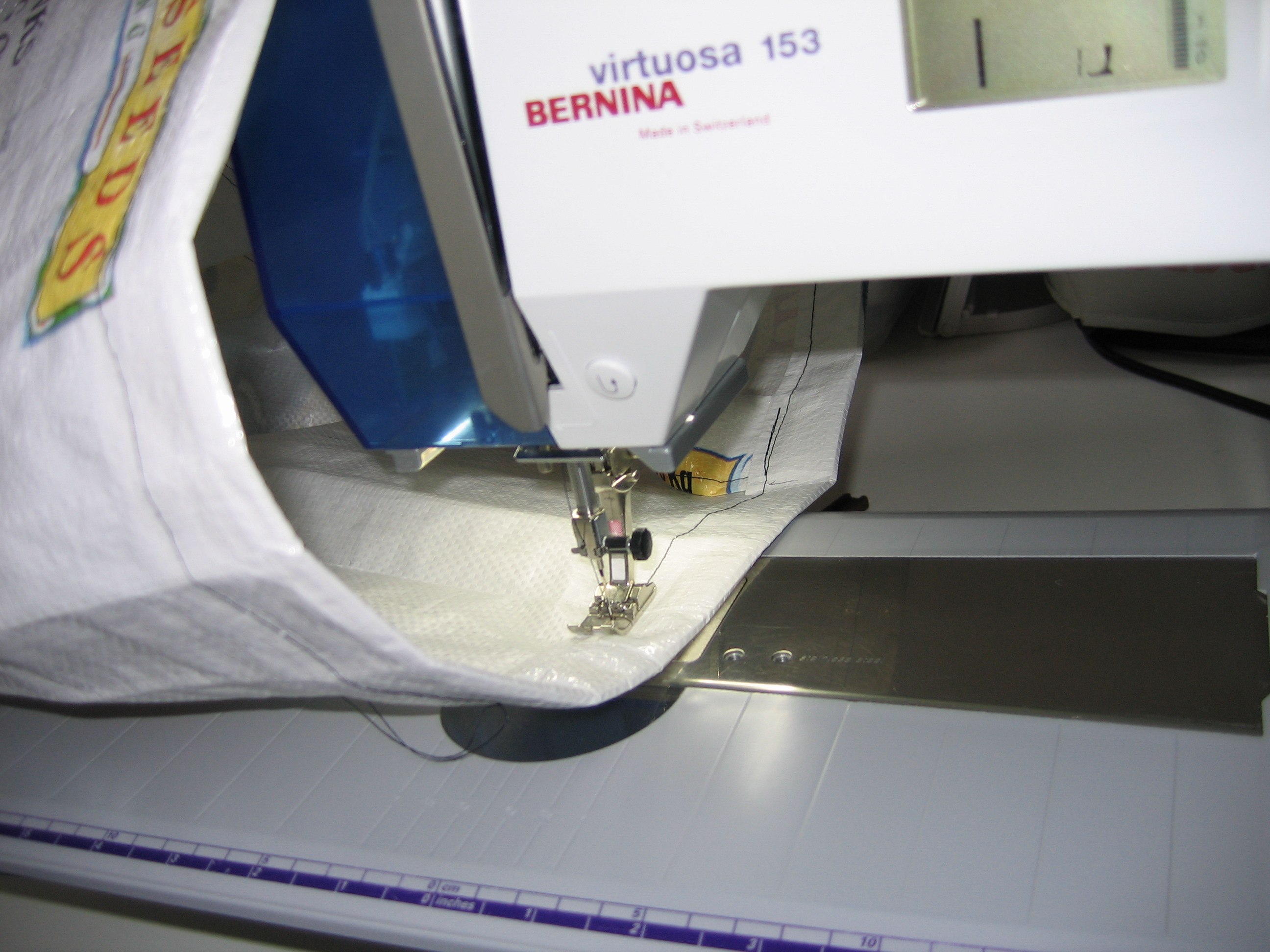 Picture of Attaching the Handles to the Bag...