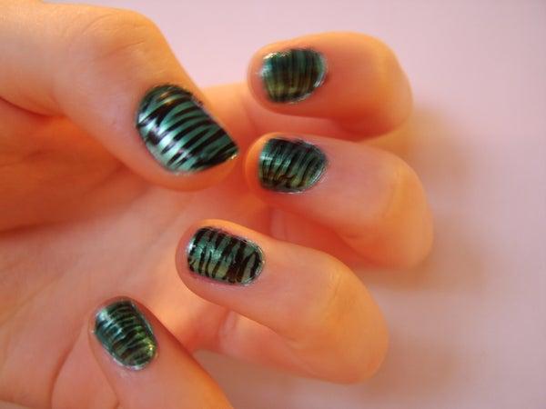 Zebra-Stripe Your Nails!