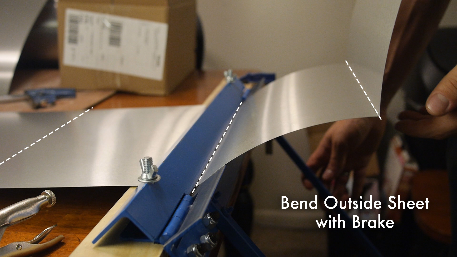Picture of Bending the Outer Sheet