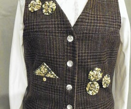Vest From an Old Wool Suit Coat