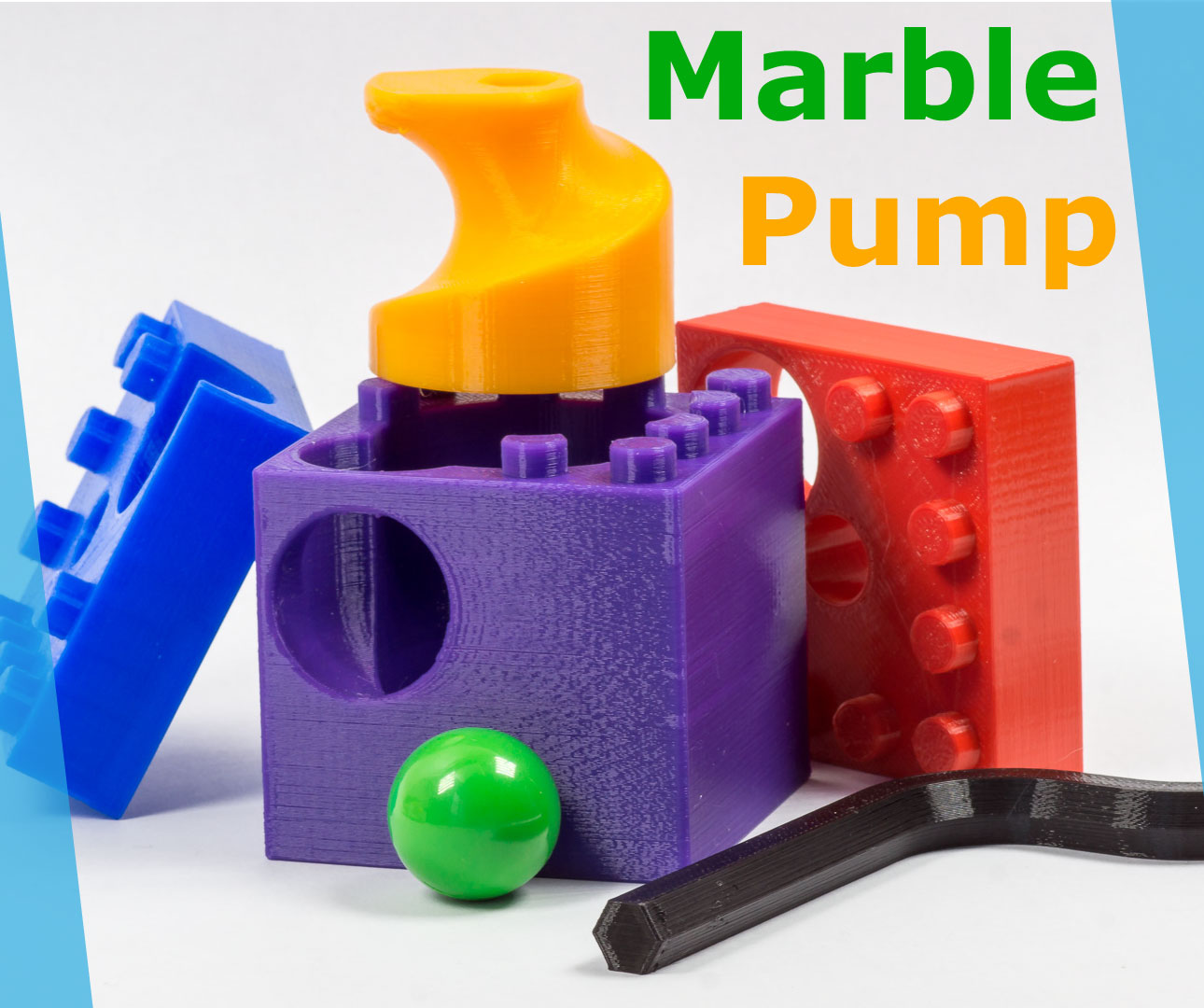 Picture of How I Designed a Marble Pump - 3D-printable and Lego Compatible