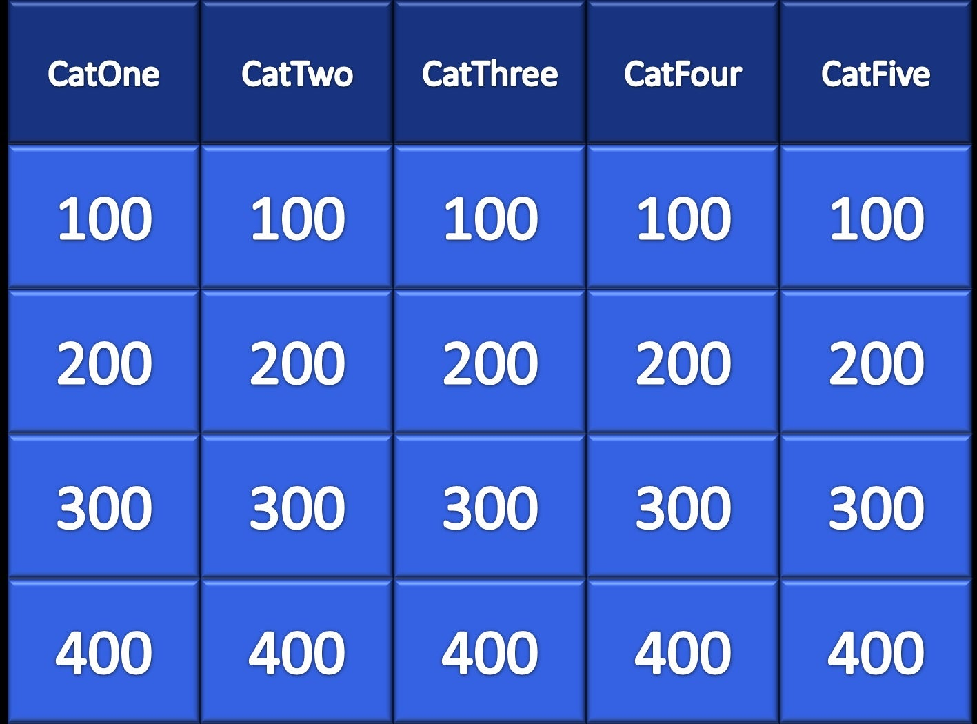Powerpoint Jeopardy 5 Steps