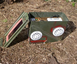 Waterproof, Solar BOOMbox AKA: Post Apocalyptic Power Supply