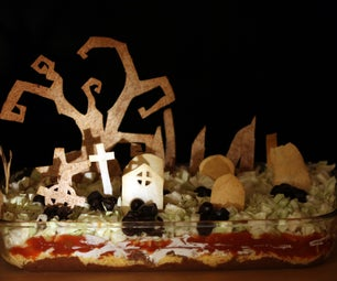 Spooky Seven Layer Dip