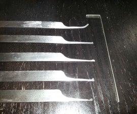Making Lockpicks From Hacksaw Blades