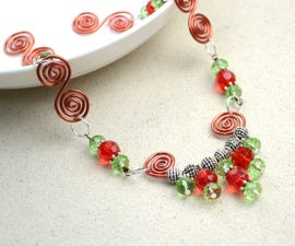 Handmade Wire Crystal Necklace