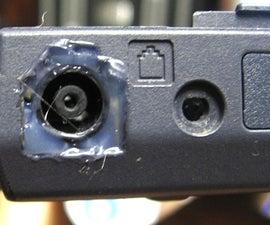Repair DC Power Jack Problem on Laptop using Modem Port