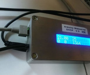 Arduino Webservers Ethernet ENC28J60 With Thermometer DS18B20, I2C LCD and Power Over Ethernet POE  for ZABBIX IOT Data Logging
