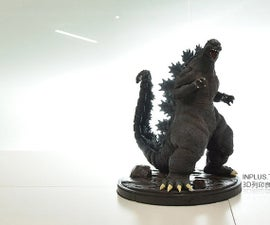 3D Printed and Painted Godzilla
