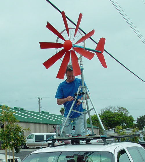 Picture of Ted Baer's Bicycle Wheel Windmill