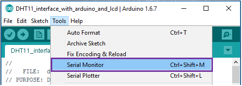 """Picture of Ways to Open """"Serial Monitor"""""""