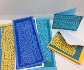 Dragonfly Wing Block Print