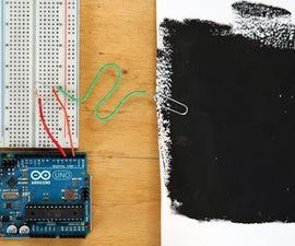Building a Capacitive Proximity Sensor using Bare Paint