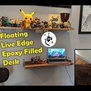 DIY Floating Live Edge Epoxy Filled Desk