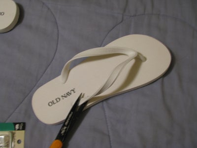 Remove the Thong Part of the Flipflop