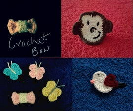 Crochet Applique Hair Accessories