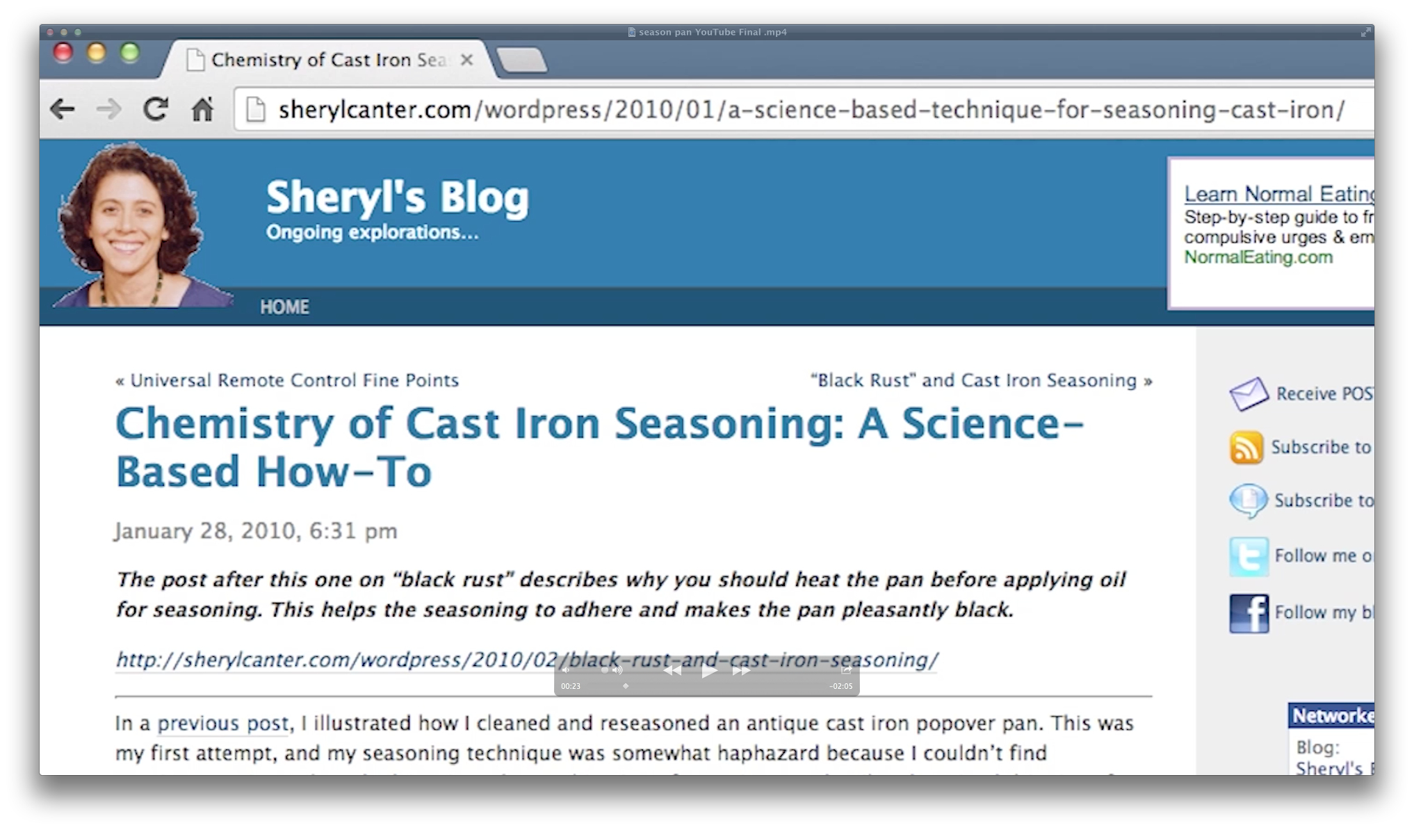 Picture of Chemistry of Cast Iron Seasoning: a Science-Based How-To