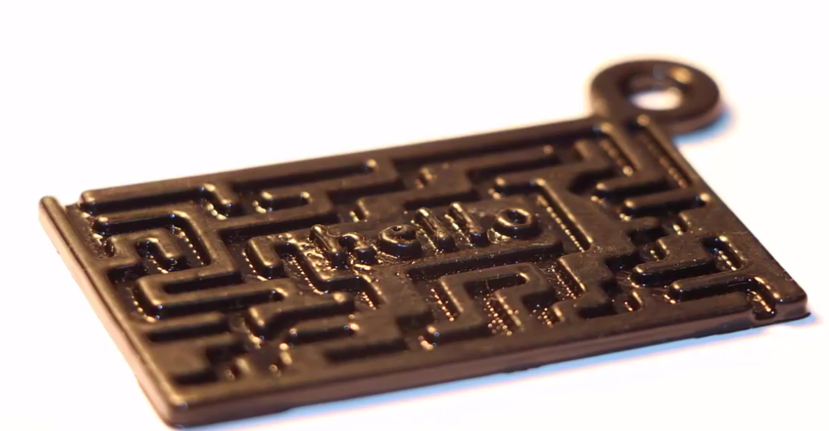 Picture of 3D Printing-Creating a  Printable 3D Keychain Using SelfCAD's Drawing Tool