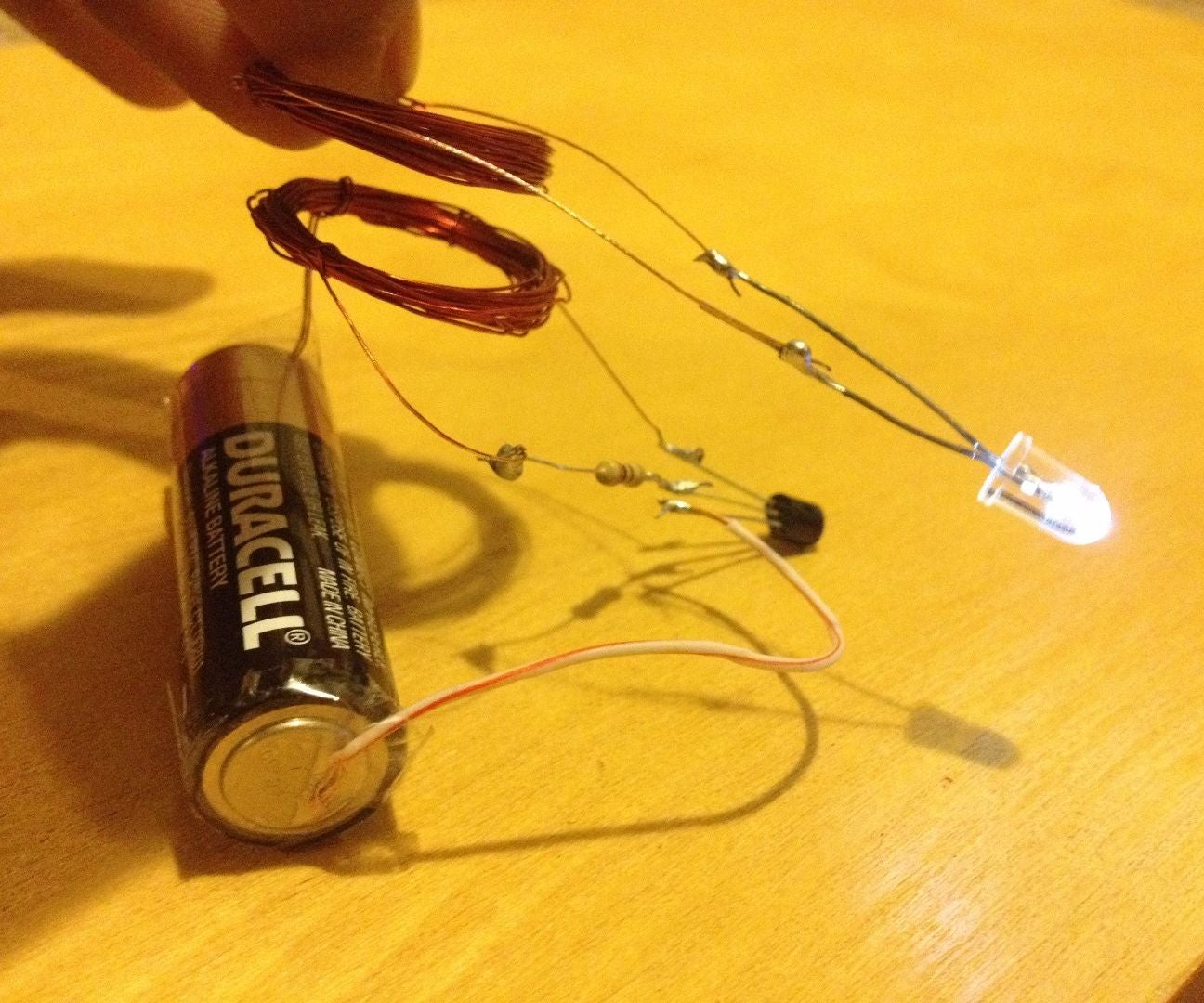 Wireless Electricity Transmission Circuit 9 Steps With Pictures Watt Led Driver Using A Joule Thief Homemade