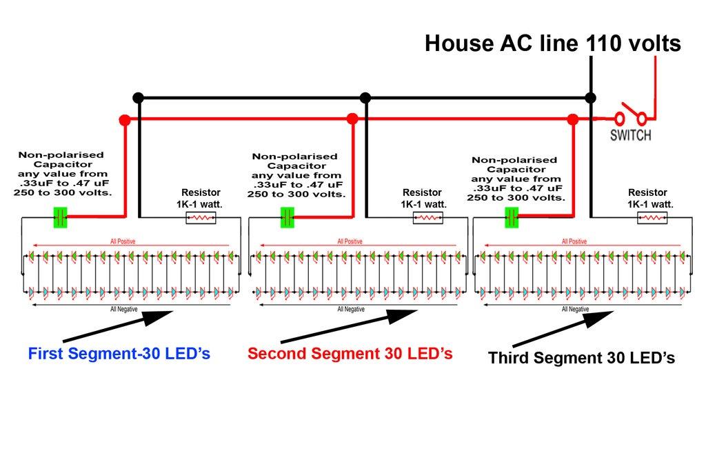 LED TUBE LIGHT (AC) : 3 Steps - InstructablesInstructables