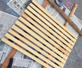 Recycled Portable Wooden Shower Mat