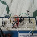 LM386 based amplifier with sound sensitive LEDs